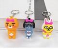 PCV Soft Plastic Bear Keychain Cartoon Doll Cute Bear Bag Pendant Car Key Ring  14