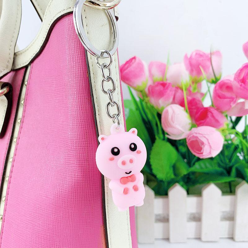 PCV软塑料3D钥匙扣环氧树脂娃娃卡通三维长袋汽车吊坠 19