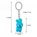 PCV Soft Plastic Bear Keychain Cartoon Doll Cute Bear Bag Pendant Car Key Ring  19