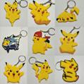 wholesale random cartoon pvc key chain keyring bag pendant teddy bear keycha 5