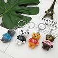 wholesale random cartoon pvc key chain keyring bag pendant teddy bear keycha 3