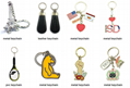 manufacturer custom own logo PVC soft plastic key chain