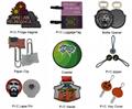 manufacturer custom own logo PVC soft plastic key chain