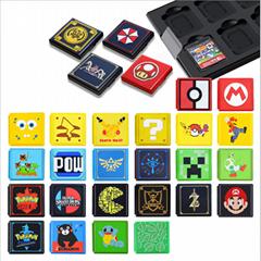 任天堂switch卡盒 switch遊戲卡收納盒 NS瑪麗奧卡盒 卡帶盒