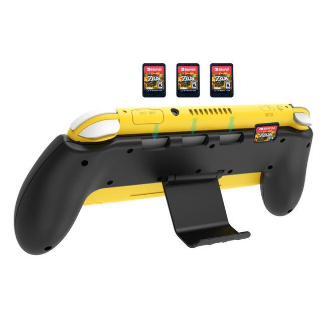 switch lite主機握把手把式保護殼NS mini防滑手柄托架支架 5