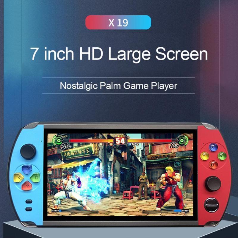 X19復古手持遊戲機8GB 16GB 7.0英吋液晶彩色屏幕視頻遊戲機 1