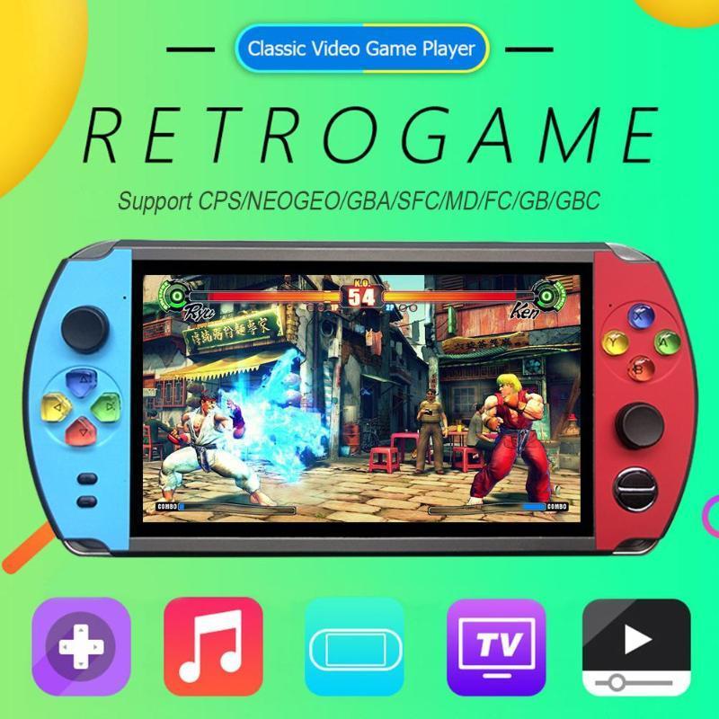 X19復古手持遊戲機8GB 16GB 7.0英吋液晶彩色屏幕視頻遊戲機 3