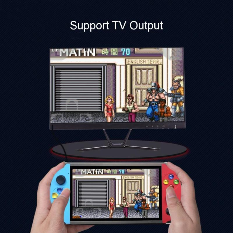 X19復古手持遊戲機8GB 16GB 7.0英吋液晶彩色屏幕視頻遊戲機 8