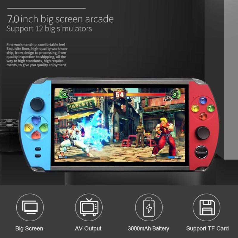 X19復古手持遊戲機8GB 16GB 7.0英吋液晶彩色屏幕視頻遊戲機 12