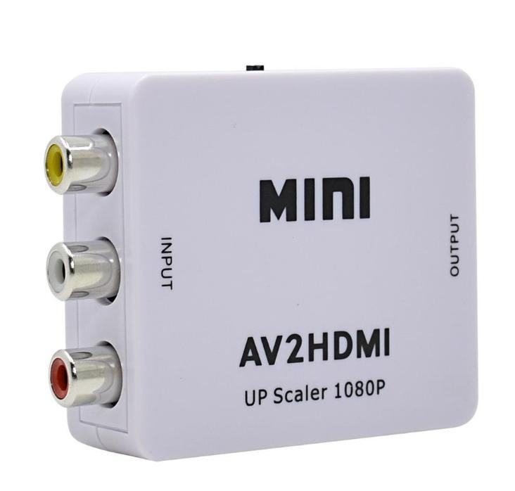 2020 NEW HDMI TO AV Scaler Adapter HD Video Converter Box HDMI to RCA AV1080P