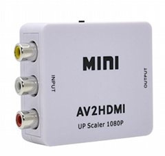 工廠現貨AV TO HDMI AV轉HDMI高清轉換器 RCA CVBS AV2HDMI 1080P