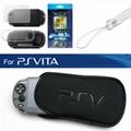 3合1屏幕保护贴+软包PSVITA保护壳索尼PSV主机海绵包PS Vita2000纤薄保护壳