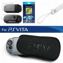 3合1屏幕保護貼+軟包PSVITA保護殼索尼PSV主機海綿包PS Vita2000纖薄保護殼