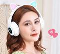 Cat ear luminous headset bluetooth headset wireless gaming sports rubber matte