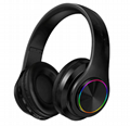 Colorful luminous B39 head-mounted wireless bluetooth headset