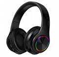 炫彩发光B39头戴式无线蓝牙耳机手机电脑通用生产厂家