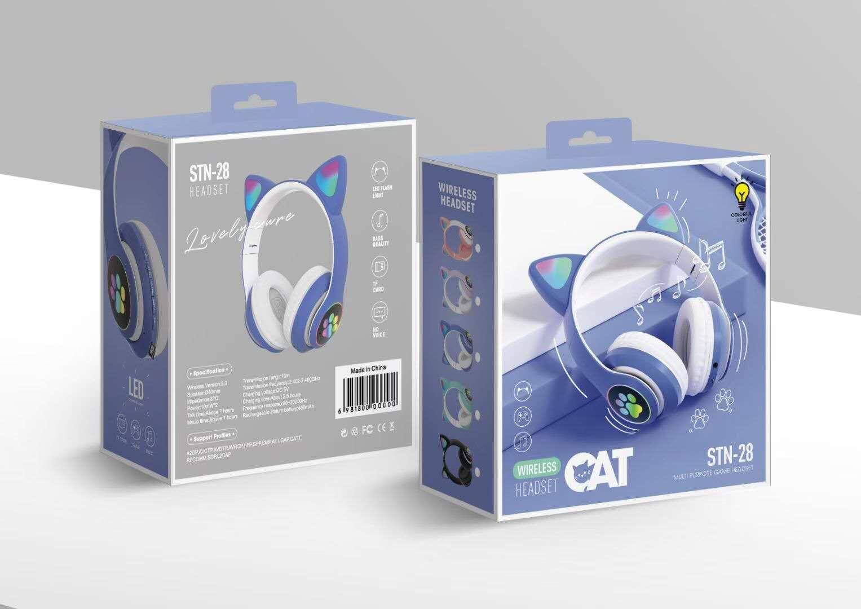 炫彩发光B39头戴式无线蓝牙耳机手机电脑通用生产厂家 6