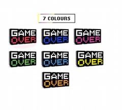 Game Over/ps5主機發光底座酷炫漸變色七彩充電座充