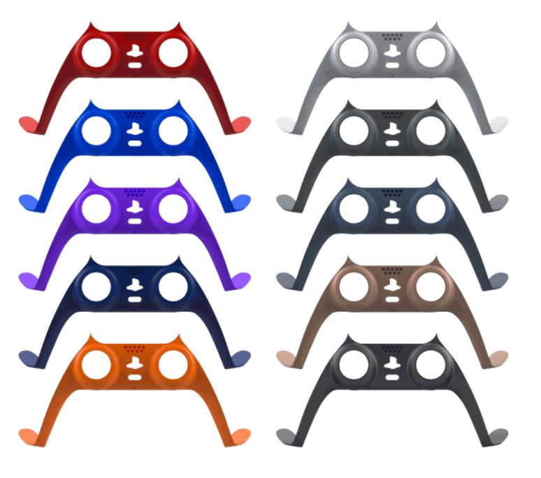 PS5遊戲機手柄裝飾條 PS5無線手柄保護殼 P5手柄彩條+帽子10色