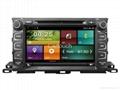 Cartouch® Car DVD GPS Navigation for Toyota Highlander 2015 Radio iPod BT