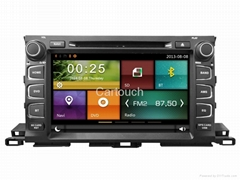 Cartouch® Car DVD GPS Navigation for Toyota Highlander 2015 Radio iPod BT