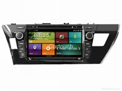 Cartouch® Car DVD GPS Navigation for Toyota Corolla Radio iPod Bluetooth Audio