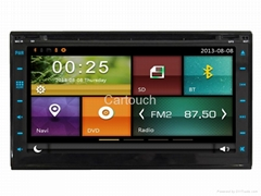 Cartouch® 2Din Universal Car DVD GPS FM Radio RDS iPod BT Phone Link CT-6958