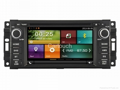 Cartouch® Car DVD GPS for Jeep Dodge FM Radio RDS iPod BT Phone Link CT-6230