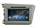Android Car DVD GPS For Honda Civic 2012
