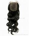 18inch Brazilian virgin hair  lace