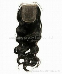 18inch Brazilian virgin hair  lace
