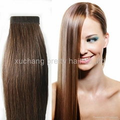20inch100% remy human hair pu tape hair extensions wholesale price