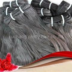 Natural wave Brazilian remy virgin human hair weft