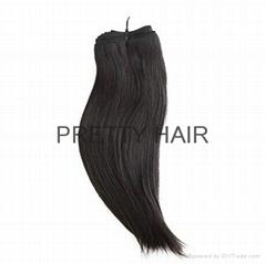 12inch 6A straight peruvian  virgin hair weft