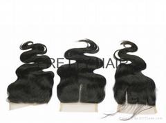 4x4 Natural Color Virgin Brazilian Hair