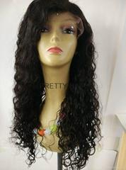 18inch Brazilian Virgin Hair Best Human Hair Full Lace wig