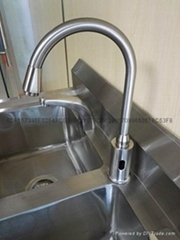 Induction faucet in operation room
