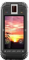 E220 Handheld second generation ID card + fingerprint reader