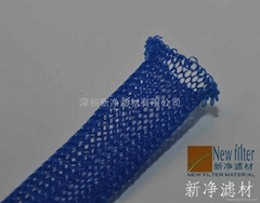 Gas-Lquid Blue Nylon flat knitted wire mesh