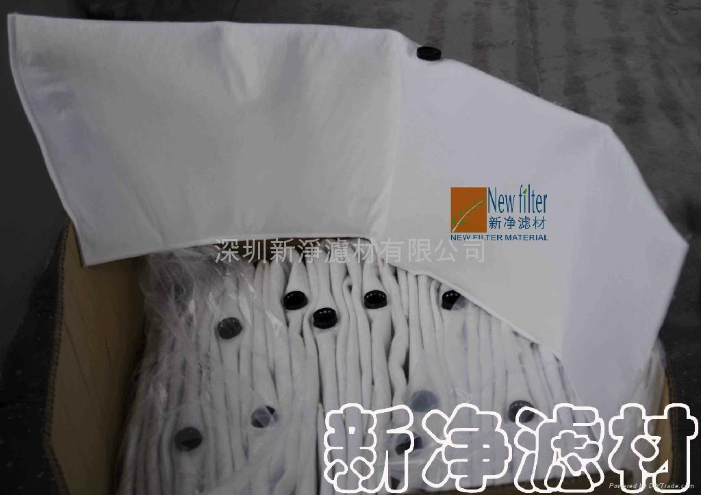 Oily liquid non-woven filter bags 1