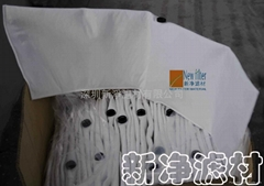 Oily liquid non-woven filter bags