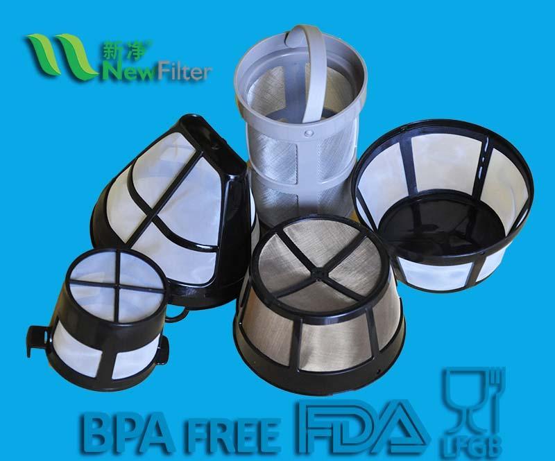 coffee nylon/metal mesh filter