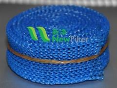 藍色尼龍扁絲針織氣液過濾網