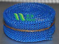 Brake Valve Silencer Blue Nylon flat knitted wire mesh