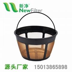 金色咖啡過濾網過濾器過濾籃NF0003
