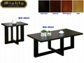 2PCS Wooden Black Wooden Cheap Modern Coffee And End Tables