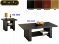2PCS Wooden Living Room 3D Paper Veneer Black Oak Coffee Tables