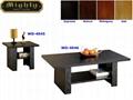 2PCS Wooden Living Room 3D Paper Veneer Black Oak Coffee Tables