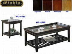 2PCS Wooden Tray Top Gla