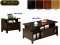 2PCS Sliding Door Chest Storage Coffee Tables With Storage